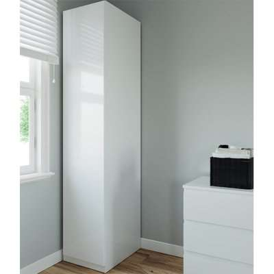 Modular Bedroom Handleless Single Wardrobe - White