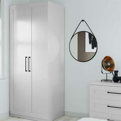 Modular Bedroom Shaker Double Wardrobe - Grey