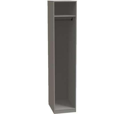 Modular Bedroom Single Wardrobe - Grey