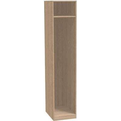 Modular Bedroom Single Wardrobe - Light Oak