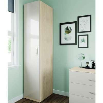 Modular Bedroom Slab Single Wardrobe - Cashmere