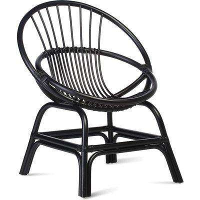 Moon Cane Chair in Black