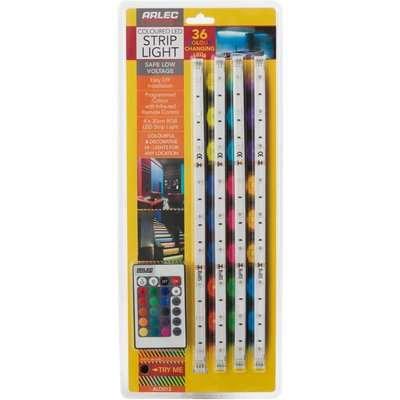 Multi Colour LED Flex Strip Light 4 pack
