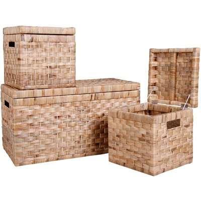 Natural Storage Set - 1 Trunk & 2 Boxes