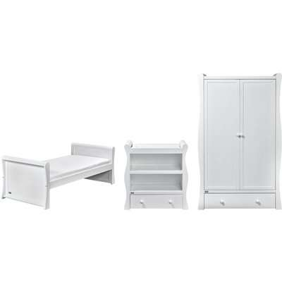 Nebraska 3 Piece (Toddler Bed) Room Set - White