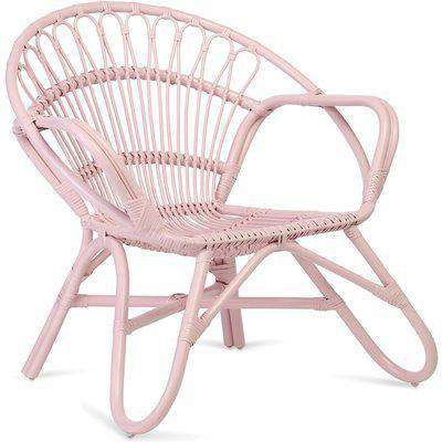 Nordic Cane Chair in Pink