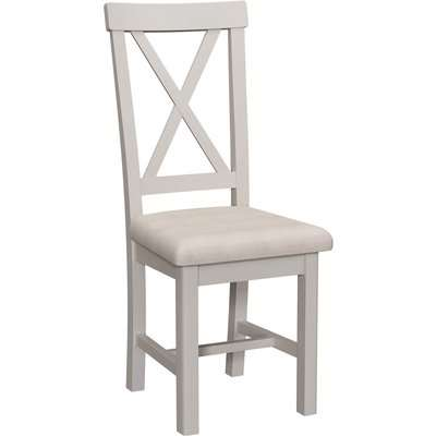 Padstow Upholstered Cross Back Dining Chair - Set of 2 - Truffle