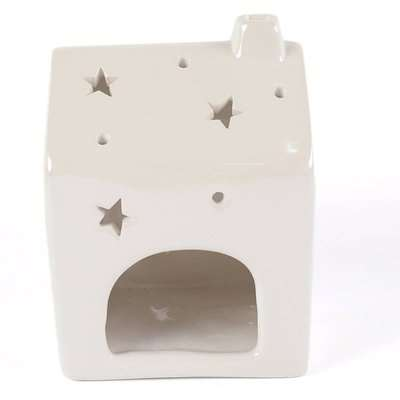 Pearl White House Tealight Holder Small