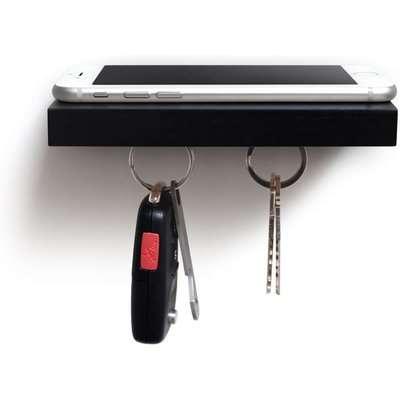 Plank Magnetic Floating Shelf - Black