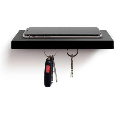 Plank Plus Magnetic Floating Shelf - Black