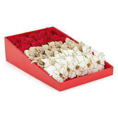 Poinsettia Wreath, Garland or Christmas Tree Decoration Pick - Assortment