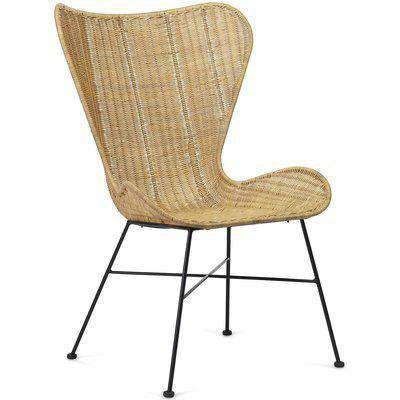 Porto Wicker Dining Chair in Natural