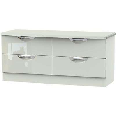 Portofino Kaschmir Gloss 4 Drawer Bed Box