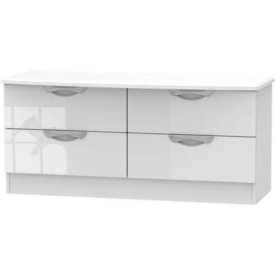 Portofino White Gloss 4 Drawer Bed Box
