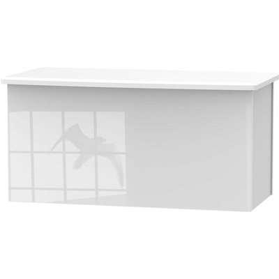 Portofino White Gloss Blanket Box