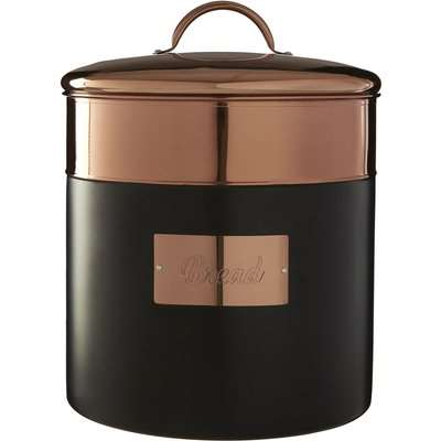 Prescott Bread Bin - Charcoal & Copper