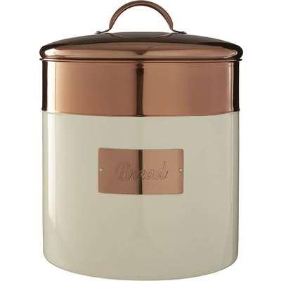 Prescott Bread Bin - Cream & Copper