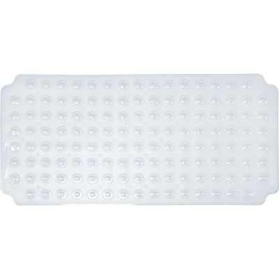 PVC Double Suction Bath Mat - Clear