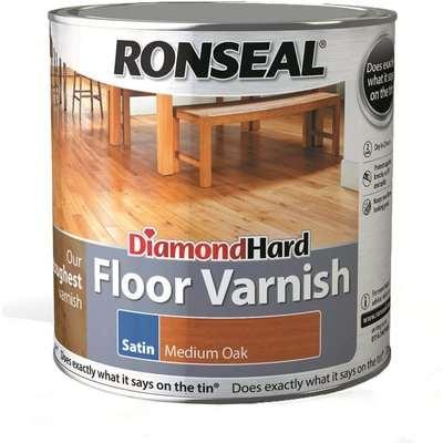Ronseal Diamond Hard Floor Varnish Clear Matt - 2.5L