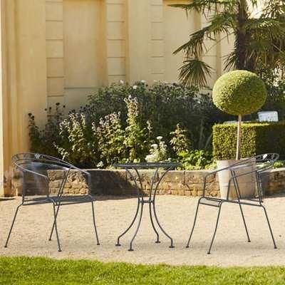 Royal Garden Elegance Metal 2 Seater Garden Bistro Set