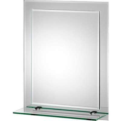 Croydex Rydal Rectangular Bathroom Mirror with Shelf