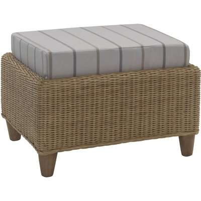 Seville Footstool In Linen Taupe