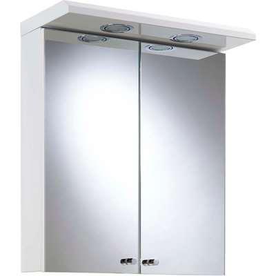 Croydex Shire Illuminated Bathroom Cabinet - White