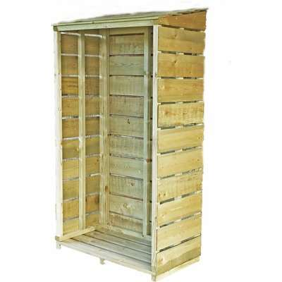 Shire Tall Wall Log Store - 3x1.5ft