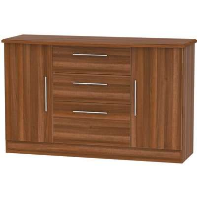 Siena 2 Door 3 Drawer Sideboard - Noche Walnut
