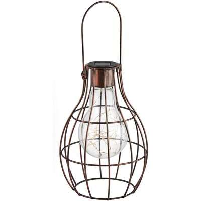 Small Solar Lightbulb Cage Lantern