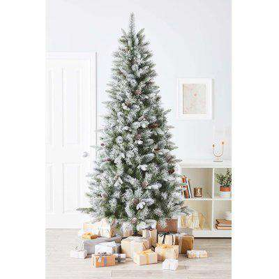 7ft 6in Snowy Bryce Pre-Decorated Artificial Christmas Tree