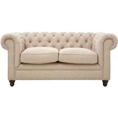 Stella 2 Seater Linen Sofa - Beige
