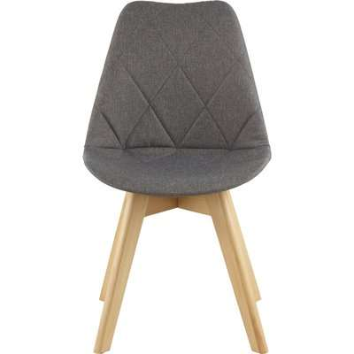 Stockholm Diamond Pattern Dining Chair - Grey