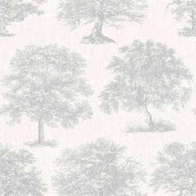 Superfresco Easy Trees Silver Wallpaper