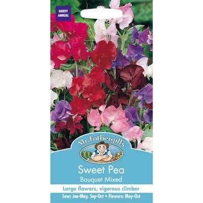Mr. Fothergill's Sweet Pea Bouquet Mixed (Lathyrus Odoratus) Seeds