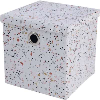 Terrazzo Fabric Storage Box with Lid