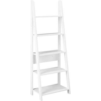Tiva Ladder Bookcase - White
