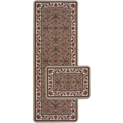 Traditional Runner Pack Taupe Rug - 57 x 100cm