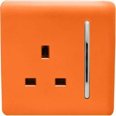 Trendi Switch 1 Gang 13Amp Switched Socket in Orange
