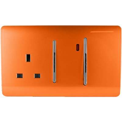 Trendi Switch 45Amp Cooker Switch & Socket in Orange