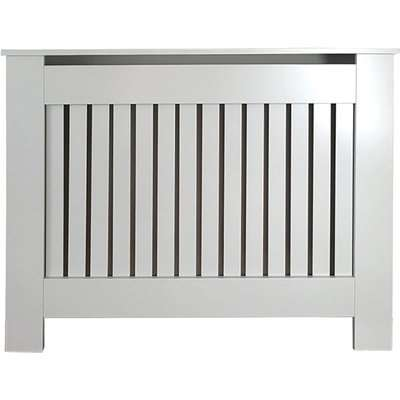 Vertical Grey Radiator Cover - Small