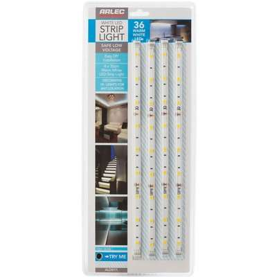 Warm White LED Flex Strip Light 4 Pack