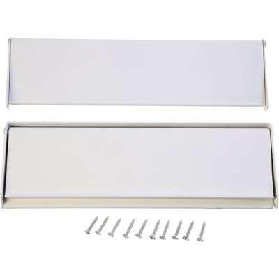 White Aluminium Letterplate & Letter Tidy - 250mm