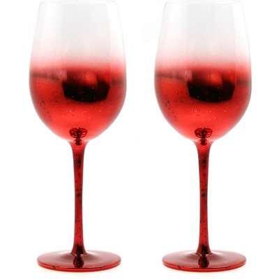 Wine Glasses - Set of 2 - Red