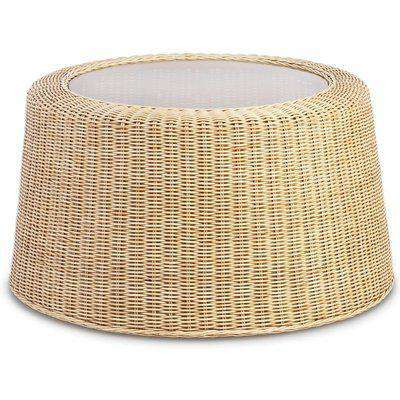 Woven Natural Rattan Coffee Table