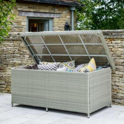 2021 Bramblecrest Monterey Outdoor Large Cushion Storage Box With Waterproof Liner - Dove Grey