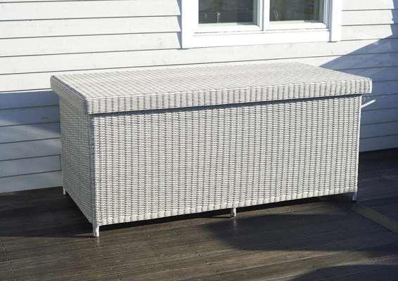 2021 Bramblecrest Monterey Outdoor Standard Cushion Storage Box With Waterproof Liner - Dove Grey