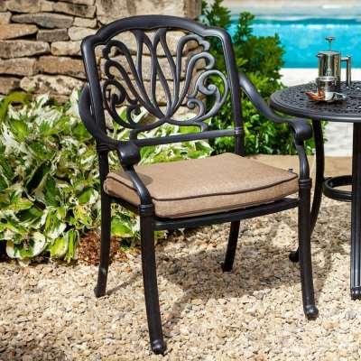 2019 Hartman Amalfi Outdoor Dining Chair With Cushion - Bronze/Amber
