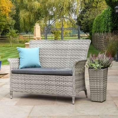 2021 Hartman Heritage 2-Seat Garden Bench - Ash/Slate
