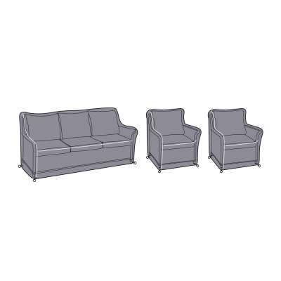 2021 Hartman Heritage 3 Seat Casual Lounge Sofa & 2 Heritage Casual Armchair Protective Covers